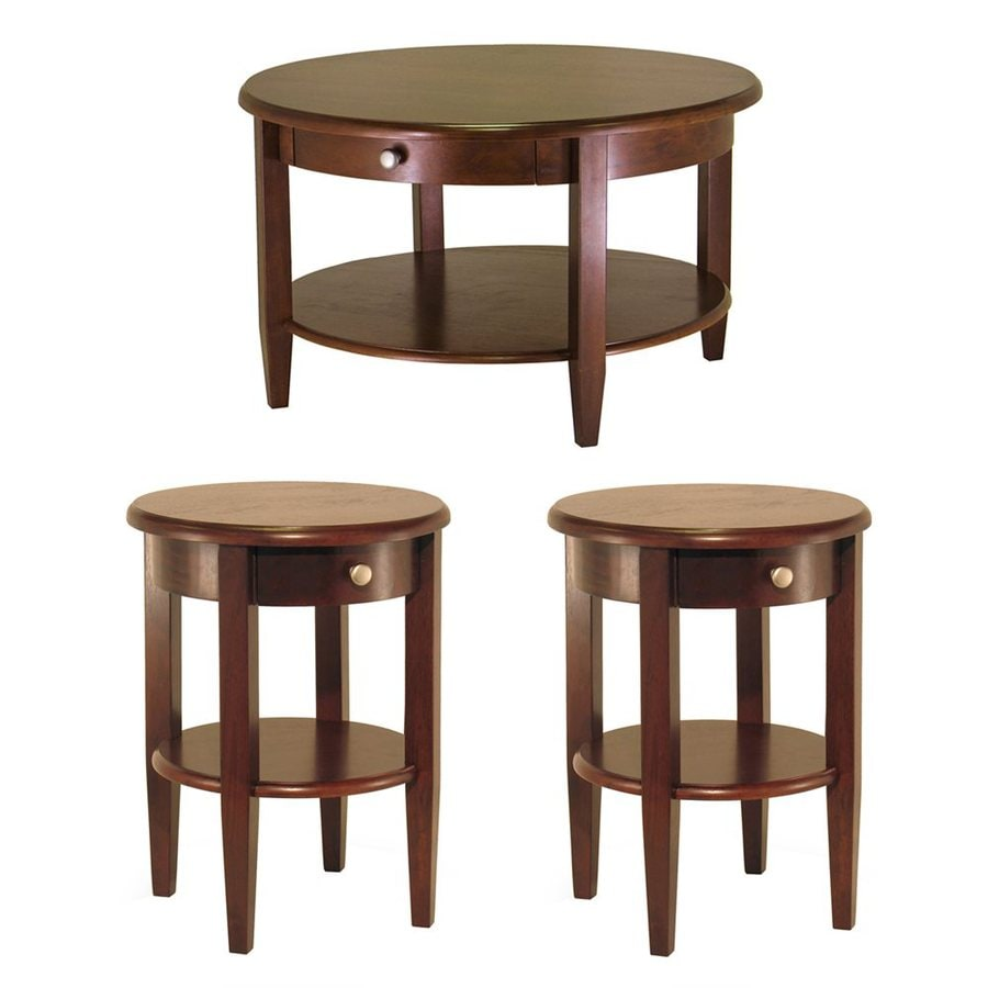 Winsome Wood Concord Antique Walnut Composite Accent Table Set