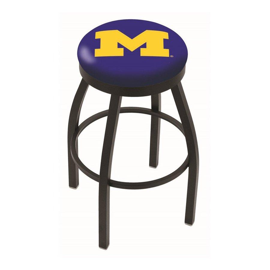 Holland University Of Michigan Wolverines Black Wrinkle 30-in Bar Stool