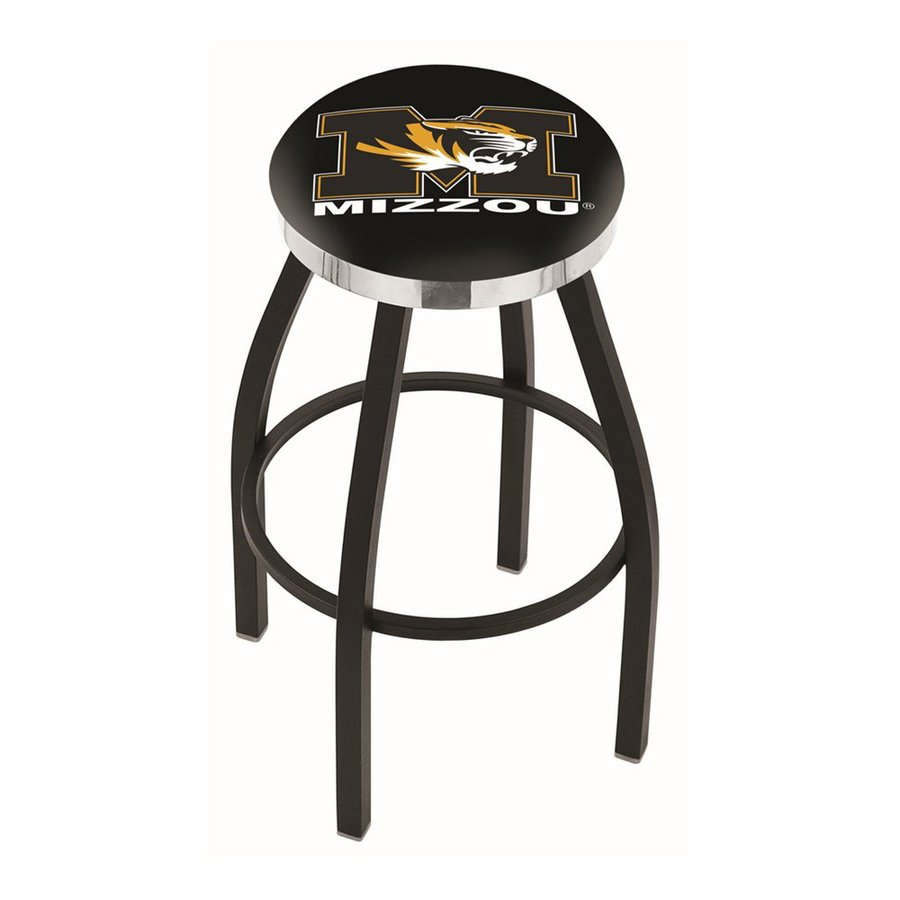 Holland University Of Missouri Tigers Black Wrinkle/Chrome 30-in Bar Stool
