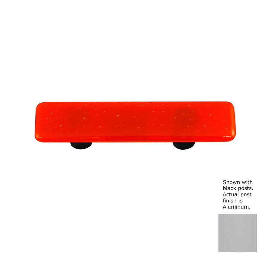 Hot Knobs 3-in Center-to-Center Aluminum Solid Rectangular Cabinet Pull