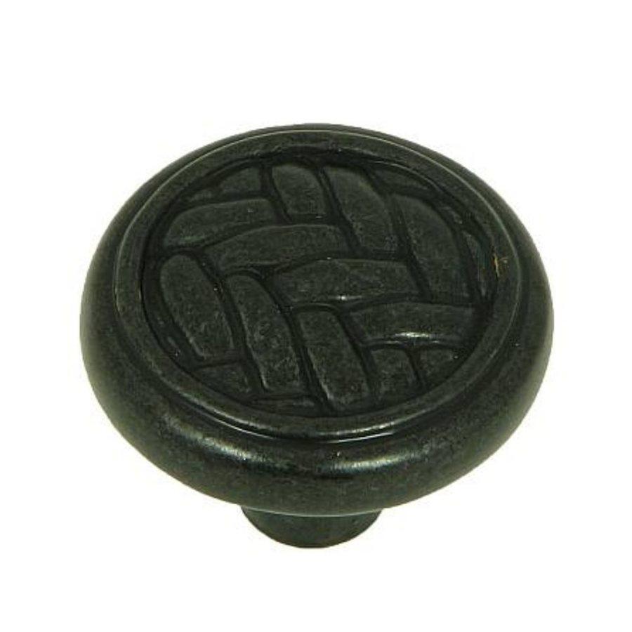Stone Mill Hardware Black Antique Round Cabinet Knob