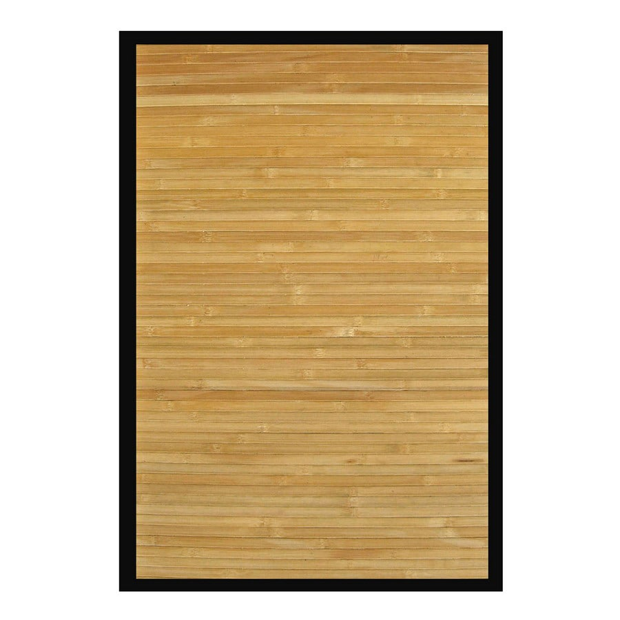 Anji Mountain Bamboo Rugs 60-in x 96-in Rectangular Multicolor Border Area Rug
