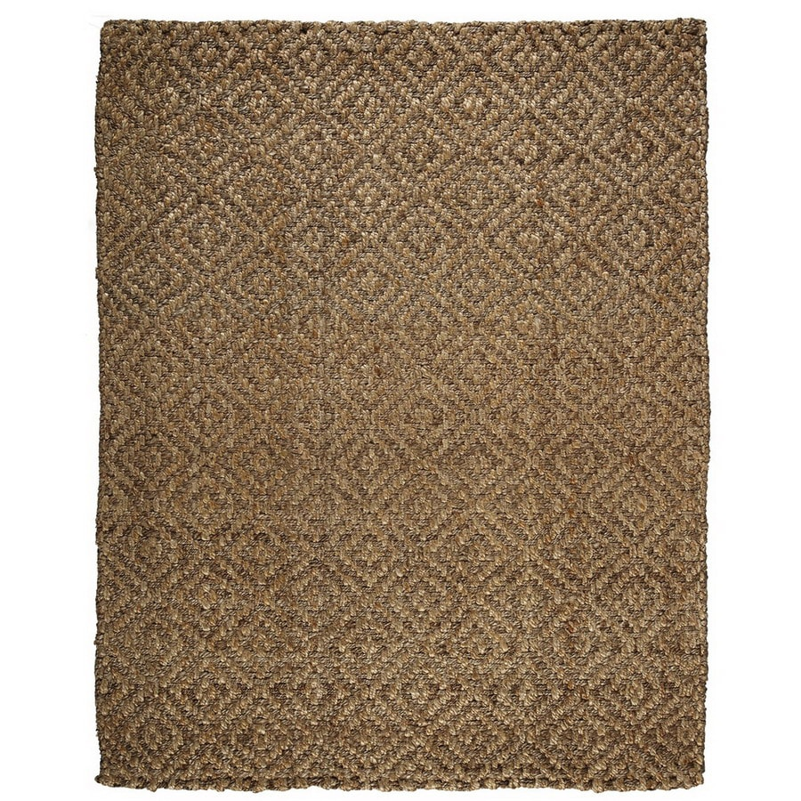 Anji Mountain Jute 96-in x 120-in Rectangular Multicolor Transitional Area Rug