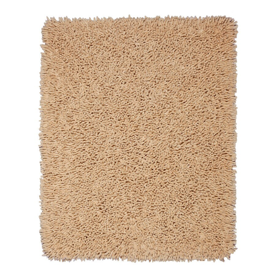 Anji Mountain Silky Shag 108-in x 144-in Rectangular Beige Solid Area Rug