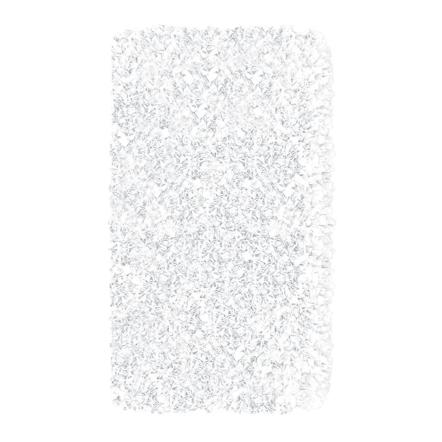 The Rug Market Shaggy Raggy White Rectangular Shag Throw Rug (Common: 2 x 3; Actual: 22-in W x 34-in L)
