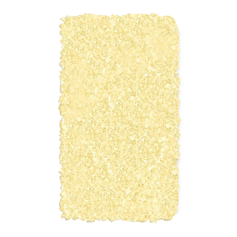 The Rug Market Kids Rectangular Yellow Solid Accent Rug (Common: 2-ft x 3-ft; Actual: 22-in x 34-in)
