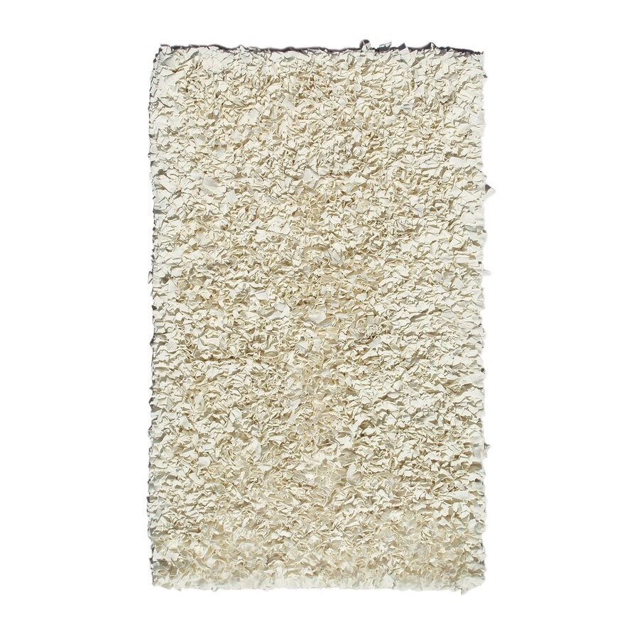 The Rug Market Shaggy Raggy Cream Rectangular Indoor Shag Throw Rug (Common: 2 x 3; Actual: 22-in W x 34-in L)