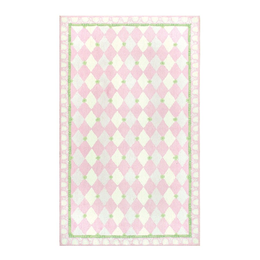 The Rug Market Harlequin Pink Rectangular Area Rug (Common: 5 x 8; Actual: 55-in W x 91-in L)