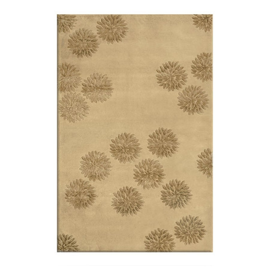 The Rug Market Charlotte Camel Rectangular Indoor Tufted Area Rug (Common: 5 x 8; Actual: 60-in W x 96-in L)