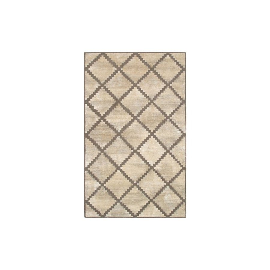 The Rug Market Shabati Rectangular Multicolor Geometric Wool Area Rug (Common: 5-ft x 8-ft; Actual: 5-ft x 8-ft)