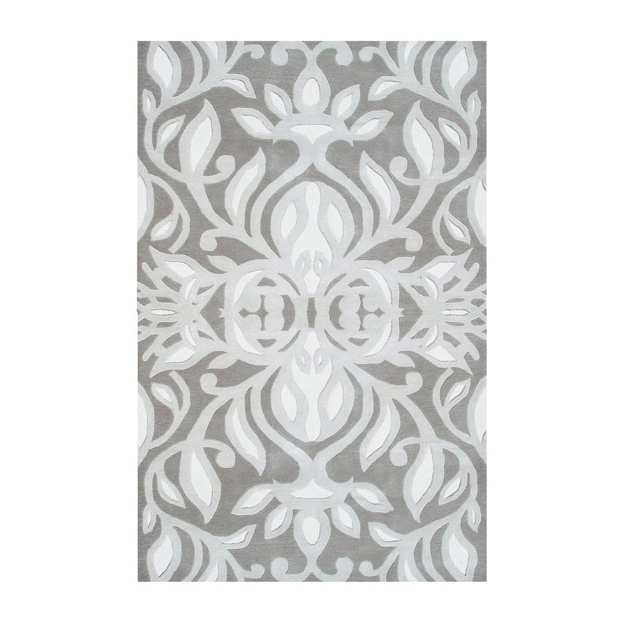 The Rug Market Rexford Gray Rectangular Indoor Tufted Area Rug (Common: 8 x 11; Actual: 96-in W x 132-in L)