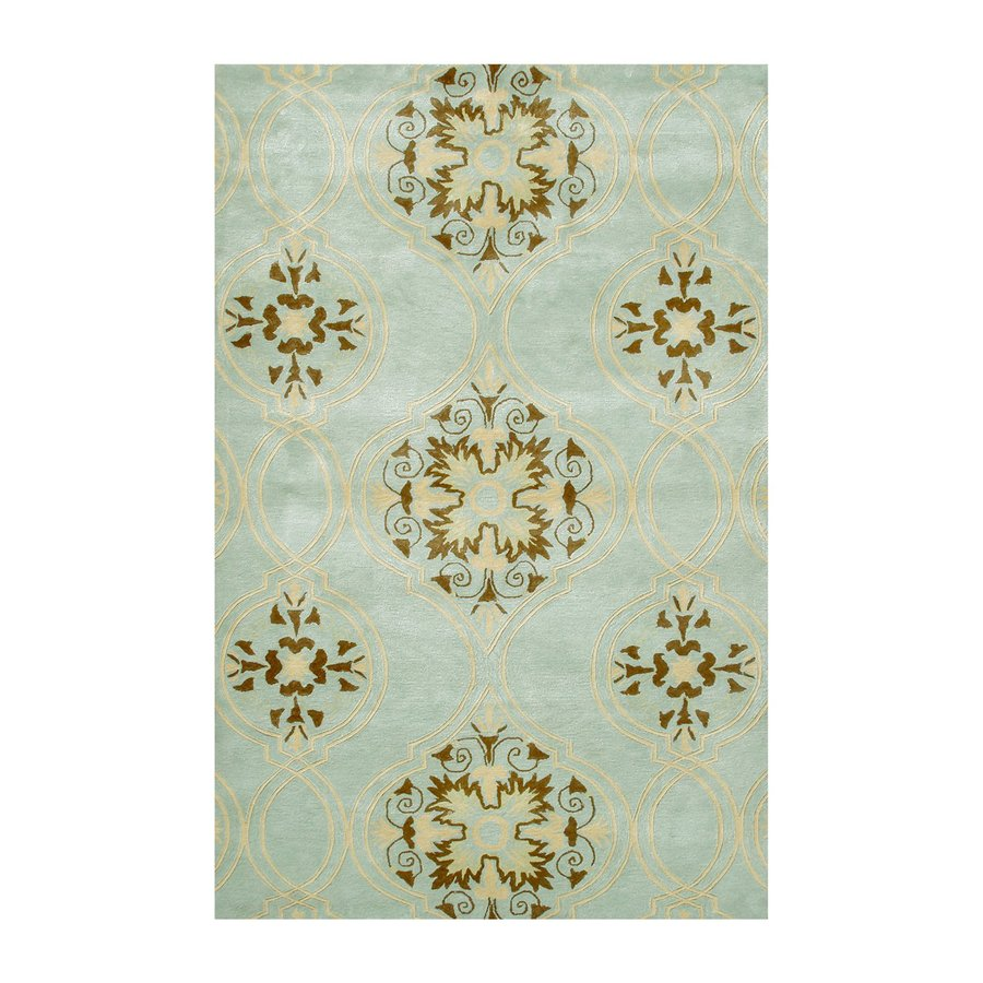 The Rug Market Rexford Teal Rectangular Tufted Area Rug (Common: 8 x 11; Actual: 96-in W x 132-in L)