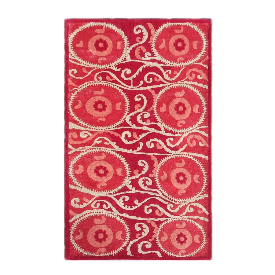 The Rug Market Camden Red Rectangular Indoor Tufted Area Rug (Common: 10 x 13; Actual: 120-in W x 156-in L)