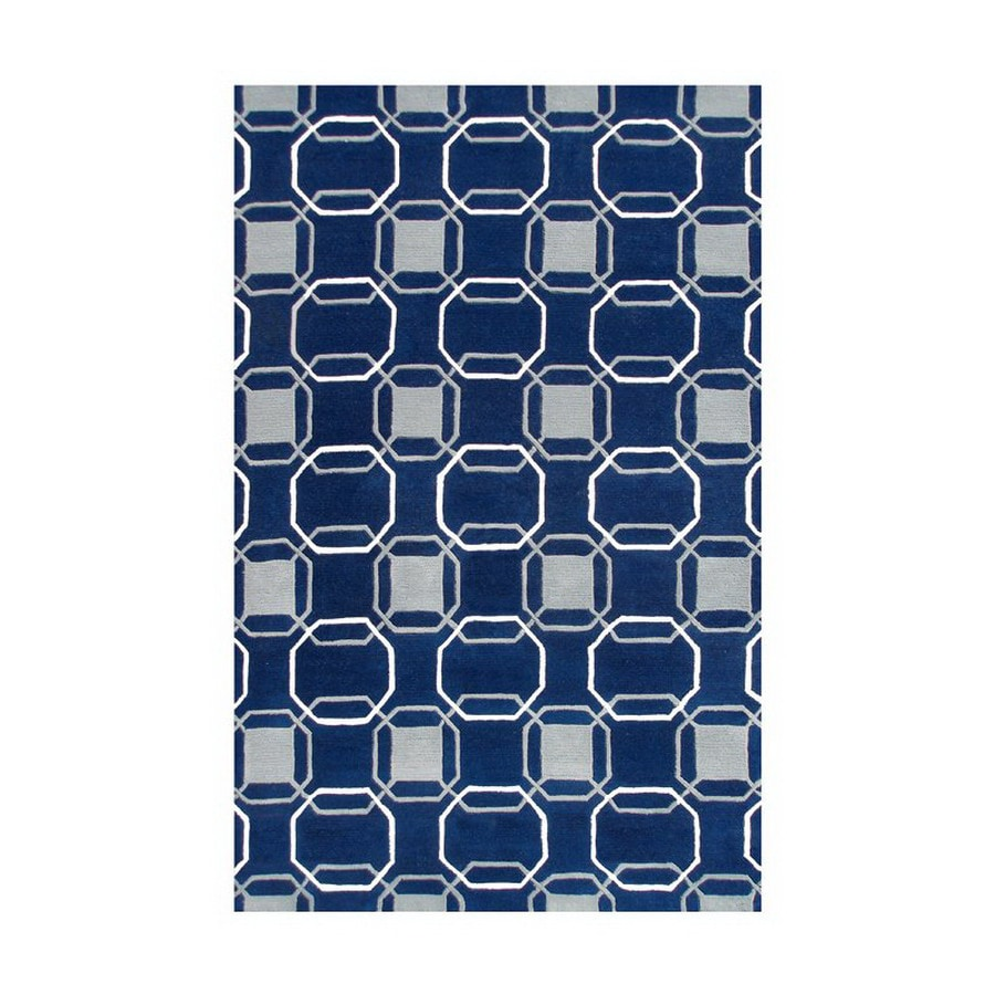 The Rug Market Rexford Rectangular Multicolor Geometric Wool Area Rug (Common: 8-ft x 11-ft; Actual: 8-ft x 11-ft)