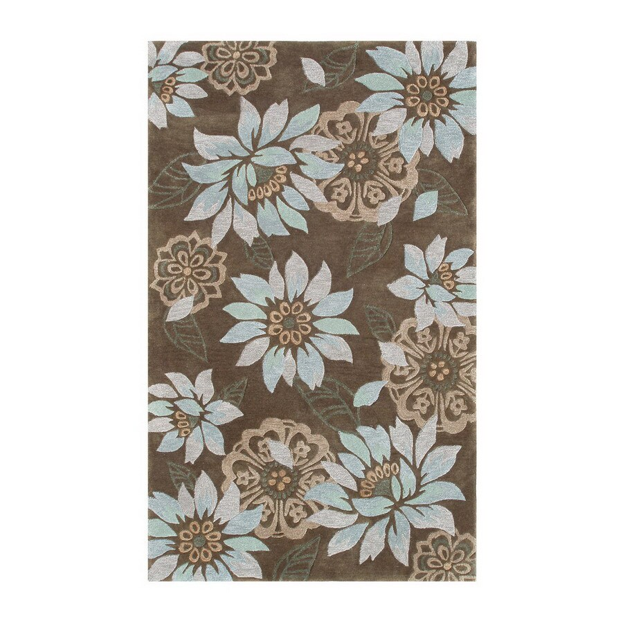 The Rug Market Ecconox 10-ft x 13-ft Rectangular Multicolor Floral Area Rug