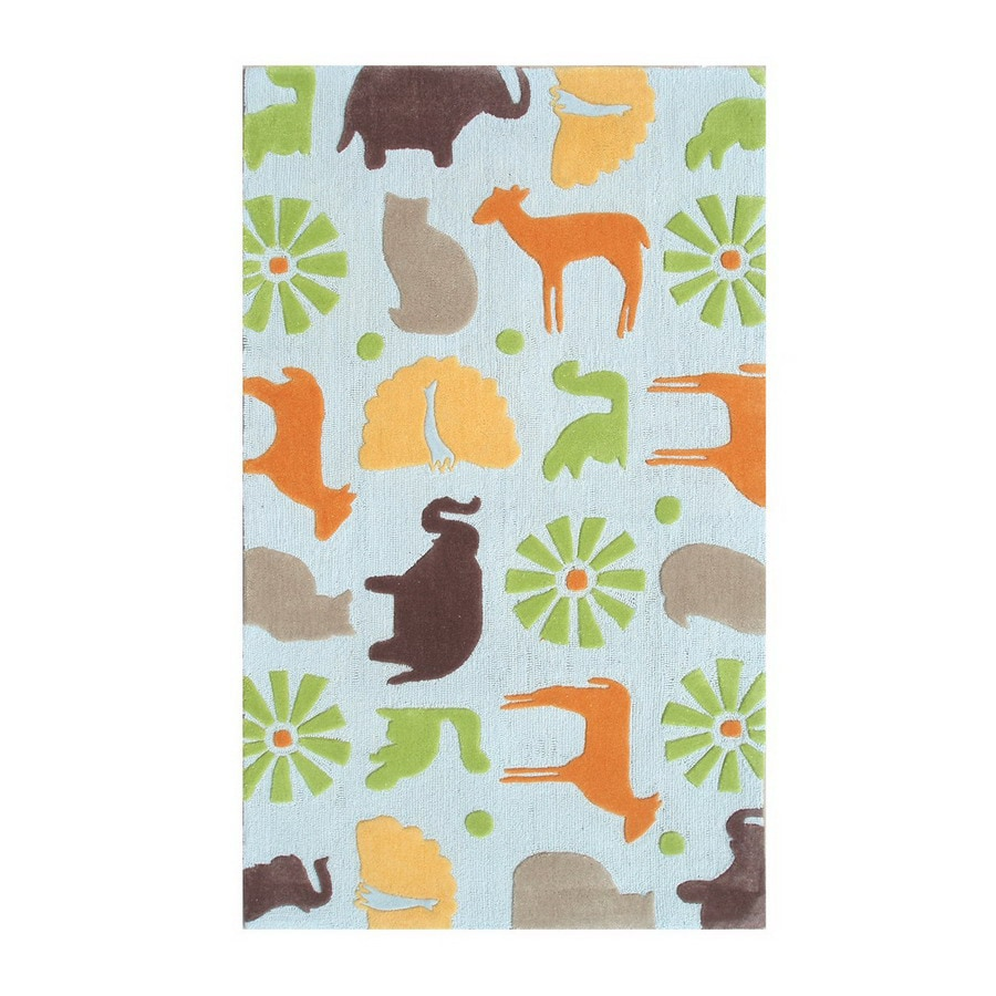 The Rug Market Kids 55-in x 7-ft 7-in Rectangular Multicolor Transitional Area Rug