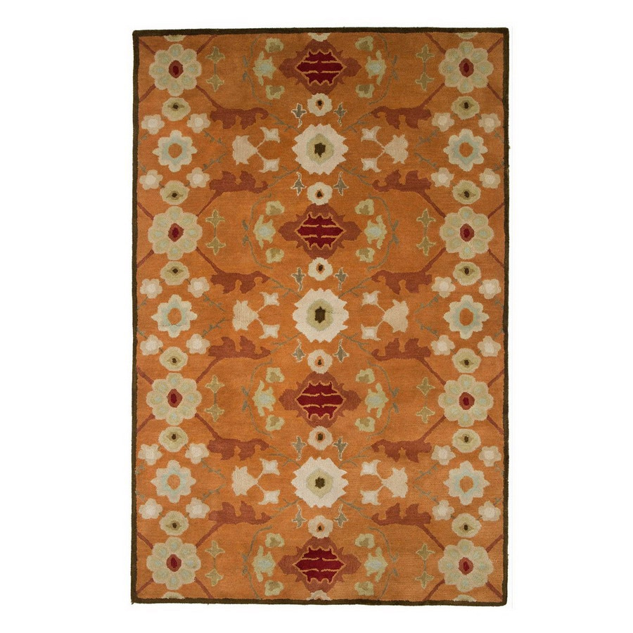 Jaipur Poeme 24-in x 36-in Rectangular Multicolor Floral Wool Accent Rug