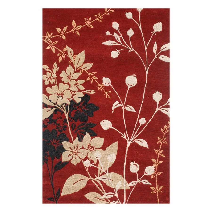Jaipur Blue 24-in x 36-in Rectangular Multicolor Floral Accent Rug