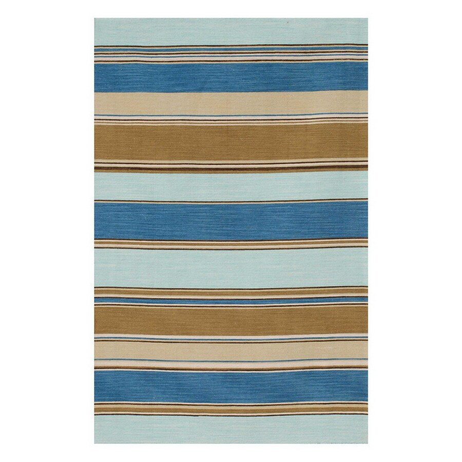 Jaipur Coastal Living Dhurries Rectangular Multicolor Transitional Wool Area Rug (Actual: 8-ft x 10-ft)