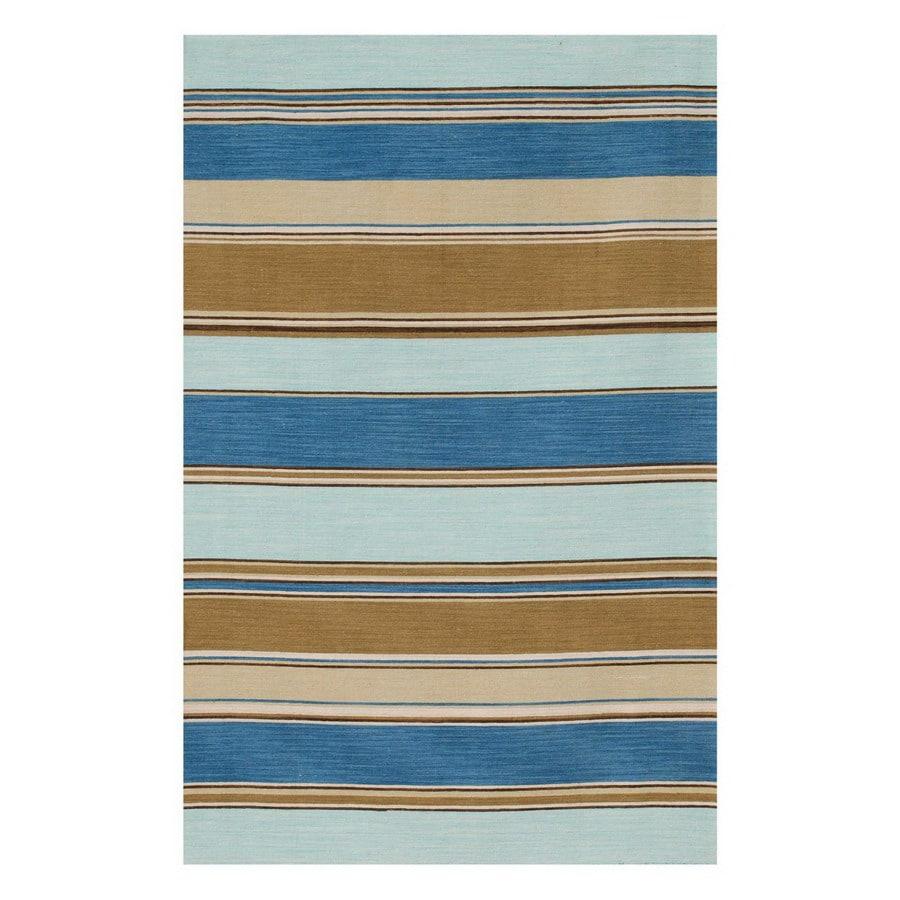 Jaipur Coastal Living Dhurries Rectangular Multicolor Transitional Wool Area Rug (Actual: 8-ft x 10-ft)