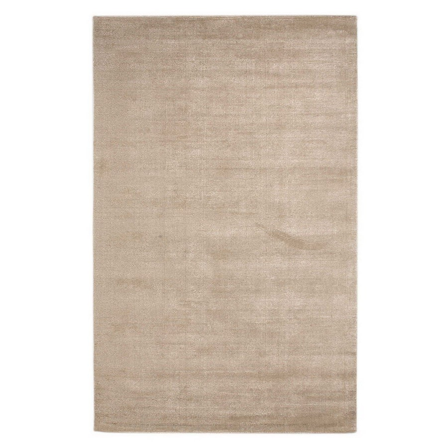 Jaipur Konstrukt Rectangular Cream Solid Wool Area Rug (Actual: 8-ft x 10-ft)
