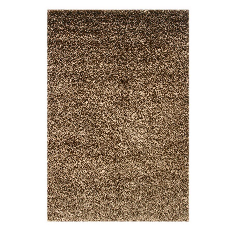Jaipur Shimmer 8-ft x 10-ft Rectangular Tan Solid Area Rug