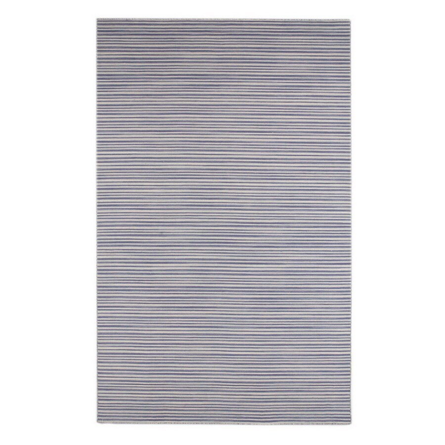Jaipur Coastal Living Dhurries Rectangular Blue Solid Wool Area Rug (Actual: 10-ft x 14-ft)