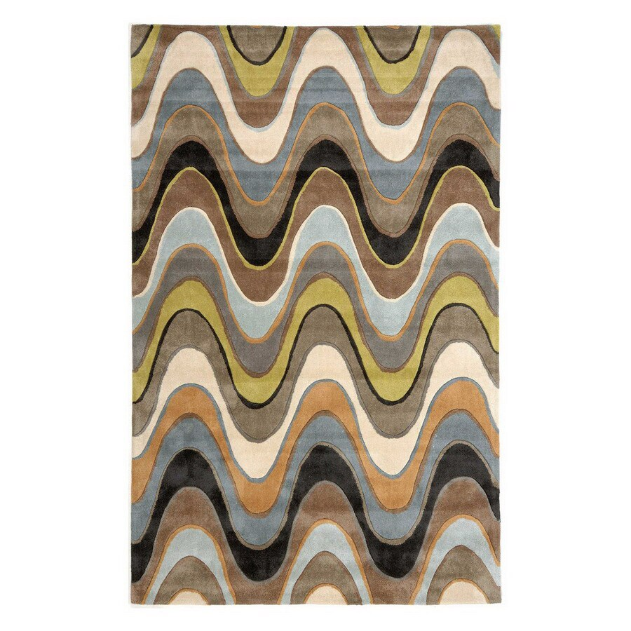 Jaipur Fusion Rectangular Multicolor Transitional Area Rug (Actual: 3-ft 6-in x 5-ft 6-in)
