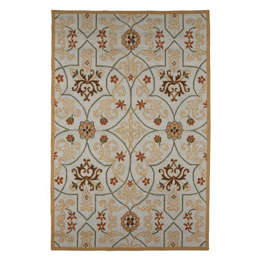 Jaipur Barcelona 5-ft x 7-ft 6-in Rectangular Multicolor Transitional Indoor/Outdoor Area Rug