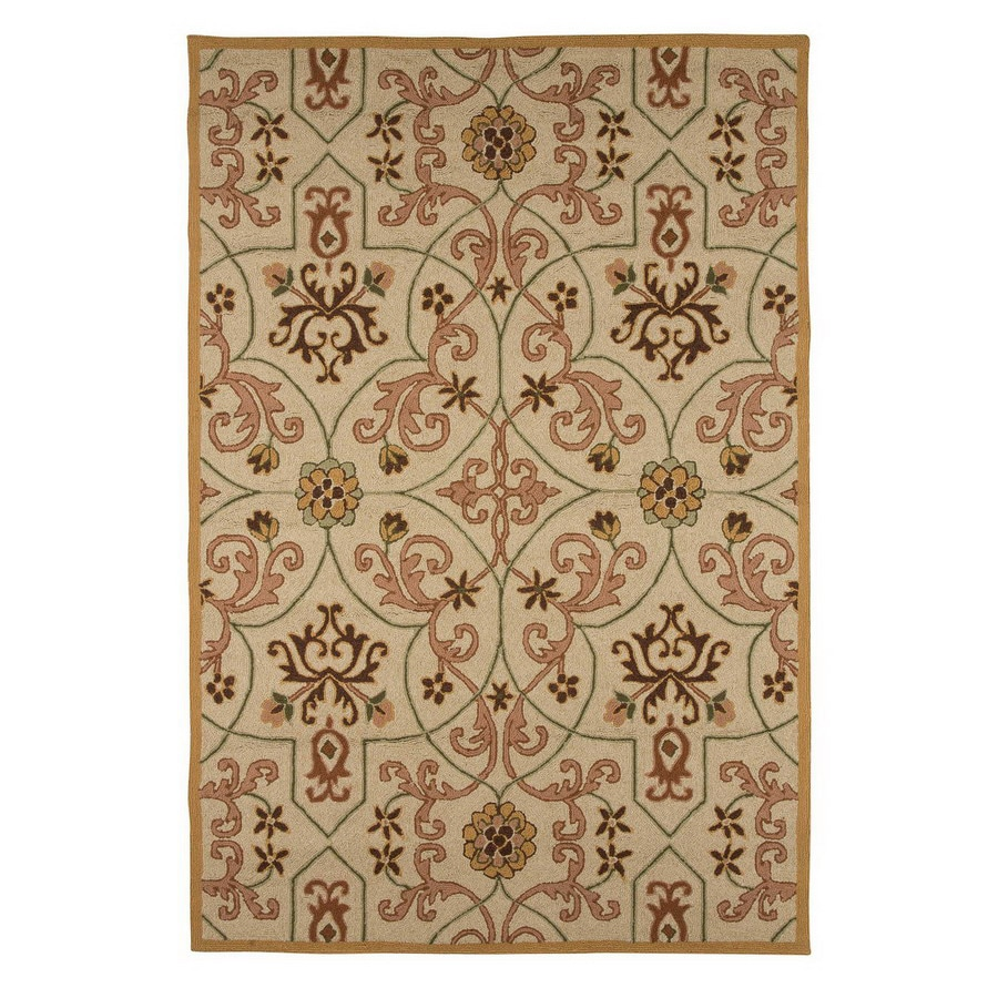 Jaipur Barcelona 6-ft 6-in x 9-ft 6-in Rectangular Multicolor Transitional Indoor/Outdoor Area Rug