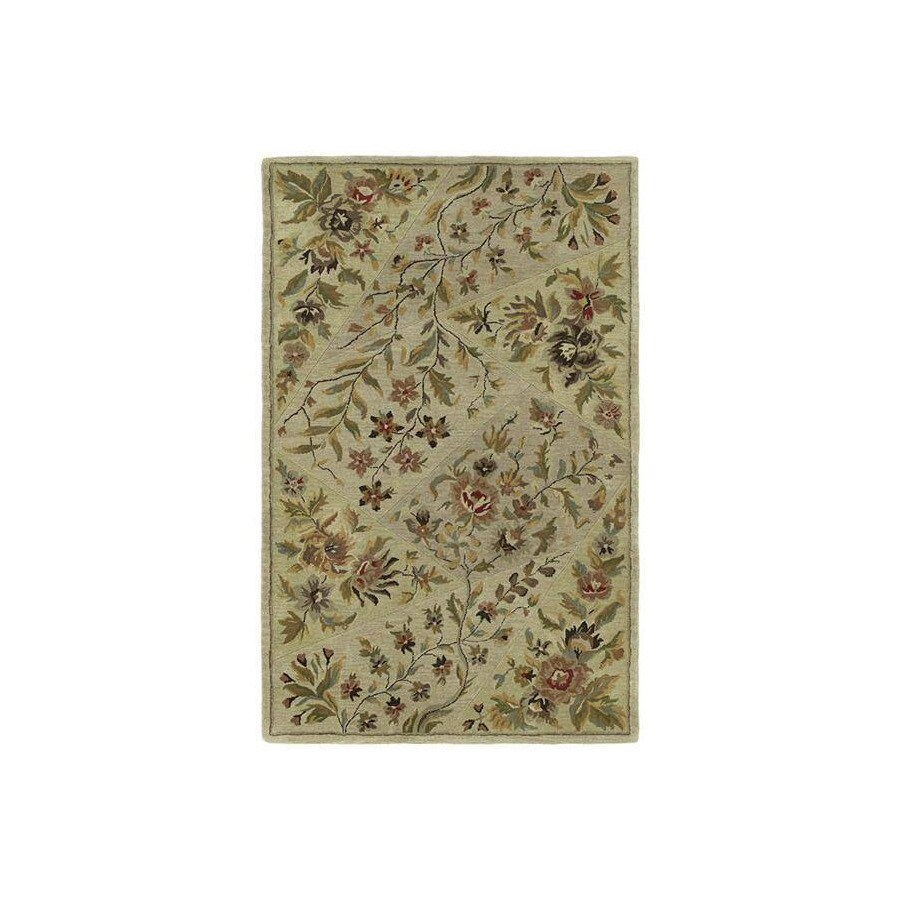 Kaleen Khazana 7-ft 6-in x 9-ft Rectangular Multicolor Floral Area Rug