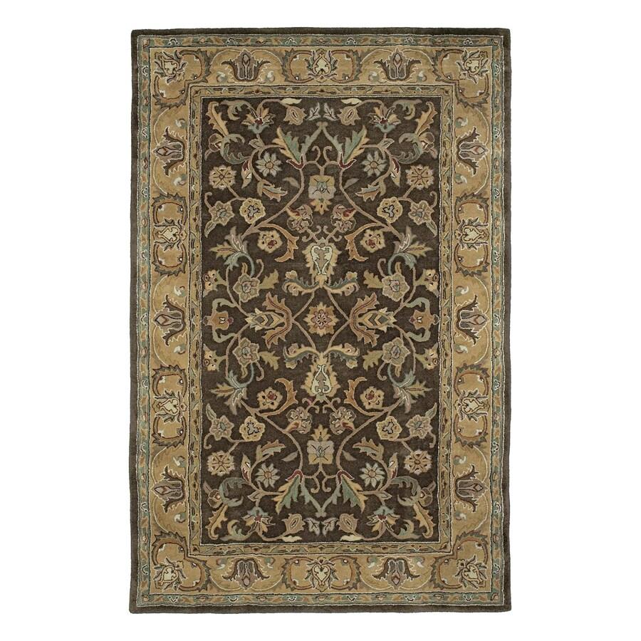 Kaleen Mystic Rectangular Brown Floral Wool Area Rug (Common: 5-ft x 8-ft; Actual: 5-ft x 7-ft 9-in)