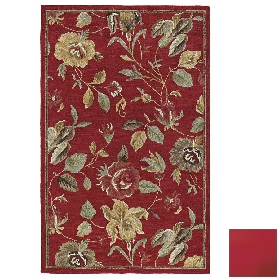 Kaleen Khazana Rectangular Multicolor Floral Wool Area Rug (Common: 10-ft x 13-ft; Actual: 9-ft 6-in x 13-ft)