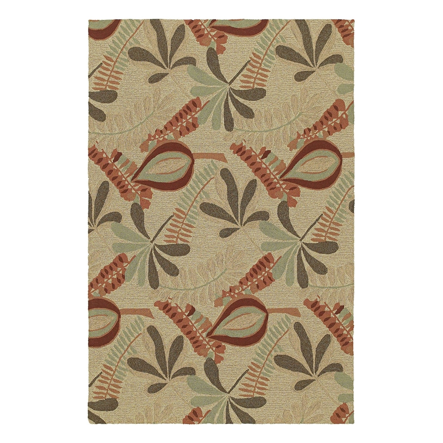 Kaleen Tybee Linen Rectangular Indoor/Outdoor Woven Nature Area Rug (Common: 8 x 9; Actual: 90-in W x 108-in L)