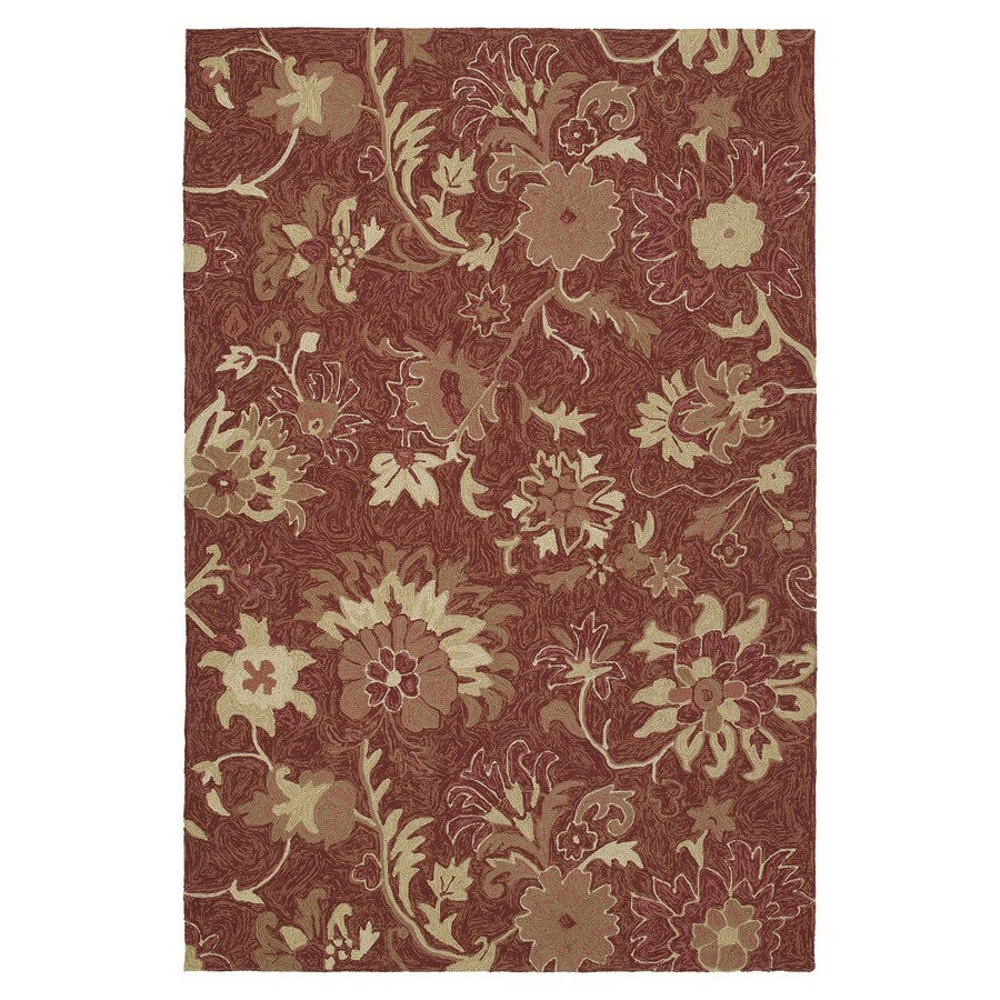 Kaleen Home and Porch 7-ft 6-in x 9-ft Rectangular Multicolor Floral Indoor/Outdoor Area Rug