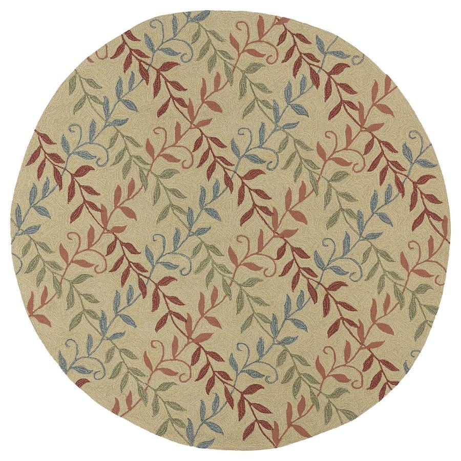 Kaleen Factors Walk Butterscotch Round Indoor/Outdoor Woven Nature Area Rug (Common: 6 x 6; Actual: 5.75-ft Dia)