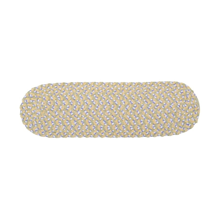 Colonial Mills Daisy Dreams 13-Pack Oval Stair Tread Mat (Common: 8-in x 28-in; Actual: 8-in x 28-in)