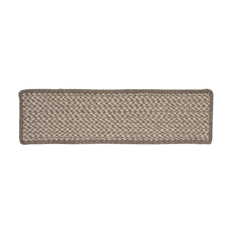 Colonial Mills Latte Rectangular Stair Tread Mat (Common: 8-in x 28-in; Actual: 8-in x 28-in)