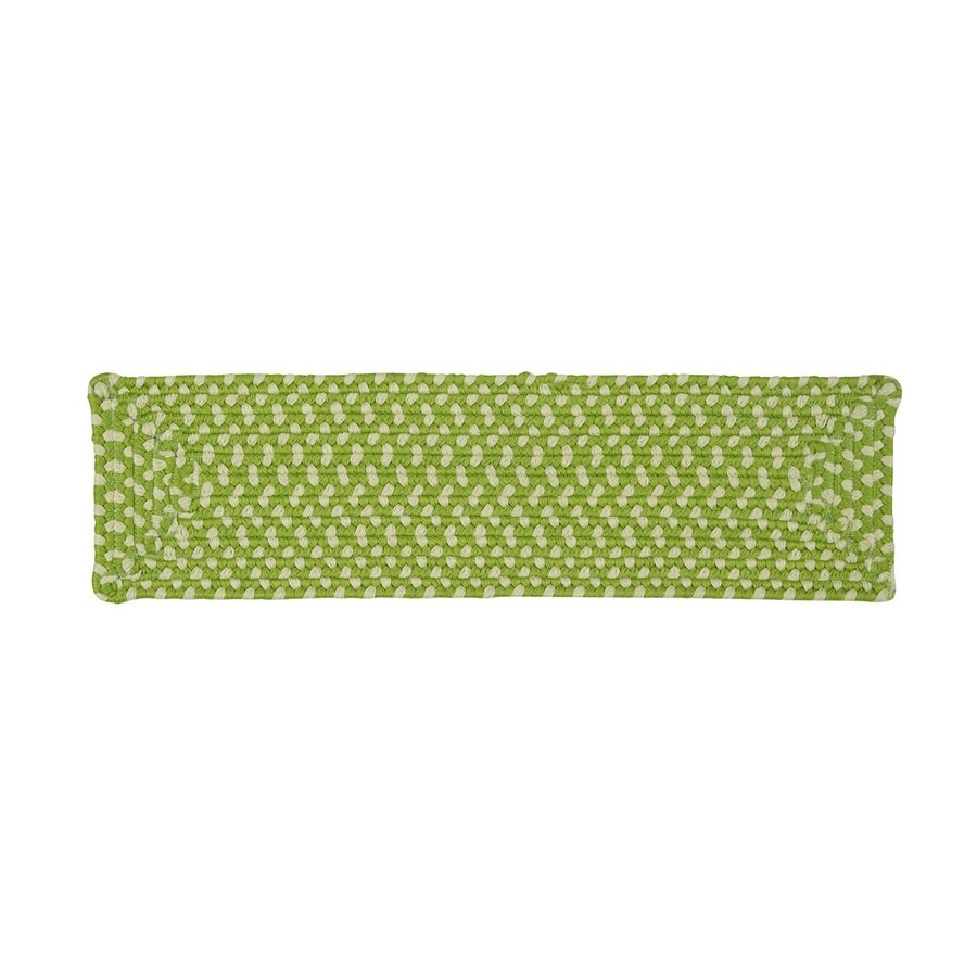 Colonial Mills Lime Twist Rectangular Stair Tread Mat (Common: 8-in x 28-in; Actual: 8-in x 28-in)