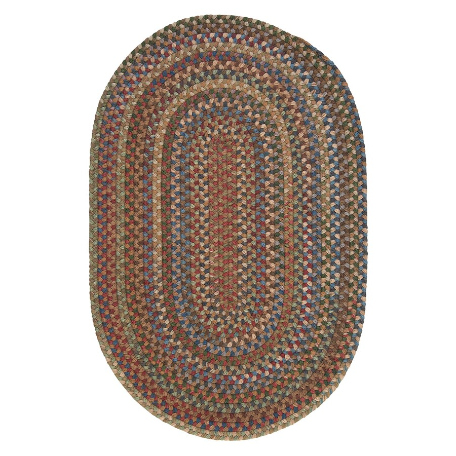 Colonial Mills Oak Harbour Dusk Oval Indoor Braided Throw Rug (Common: 2 x 3; Actual: 24-in W x 36-in L)