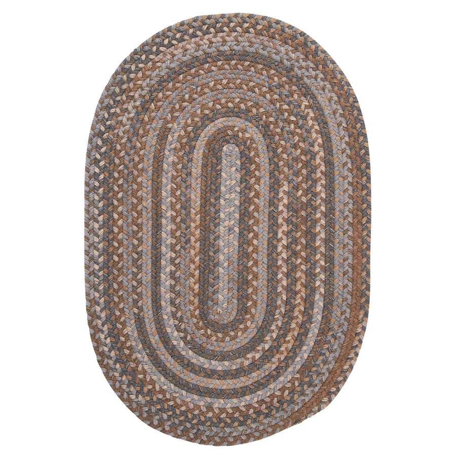 Colonial Mills Oak Harbour Graphite Oval Indoor Braided Throw Rug (Common: 2 x 3; Actual: 24-in W x 36-in L)