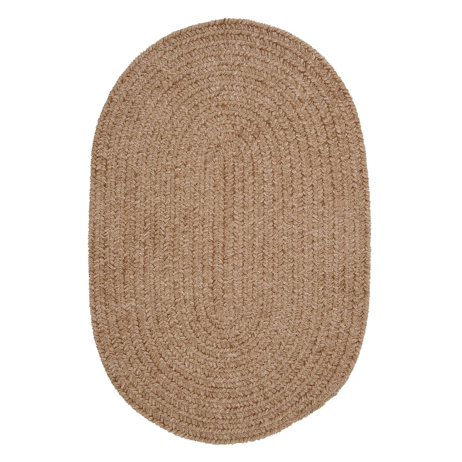 Colonial Mills Spring Meadow Sand Bar Oval Indoor/Outdoor Braided Area Rug (Common: 7 x 9; Actual: 84-in W x 108-in L)