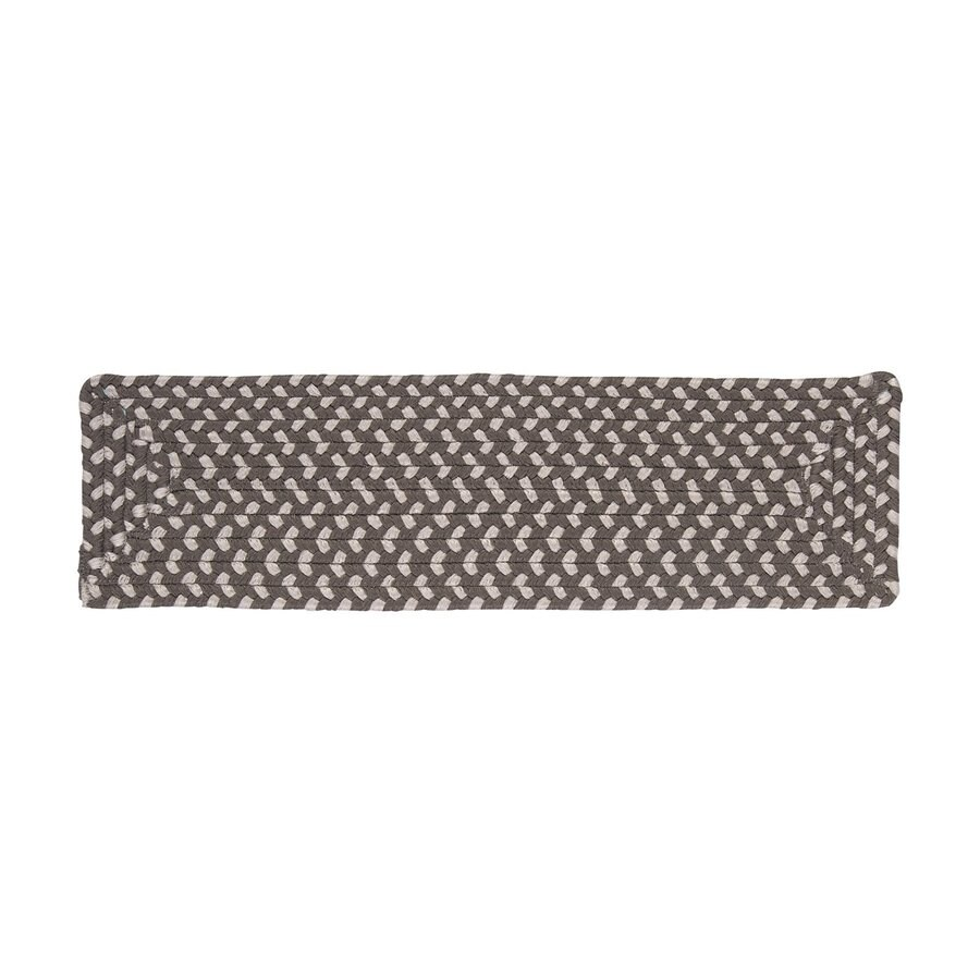 Colonial Mills Misted Gray Rectangular Stair Tread Mat (Common: 8-in x 28-in; Actual: 8-in x 28-in)