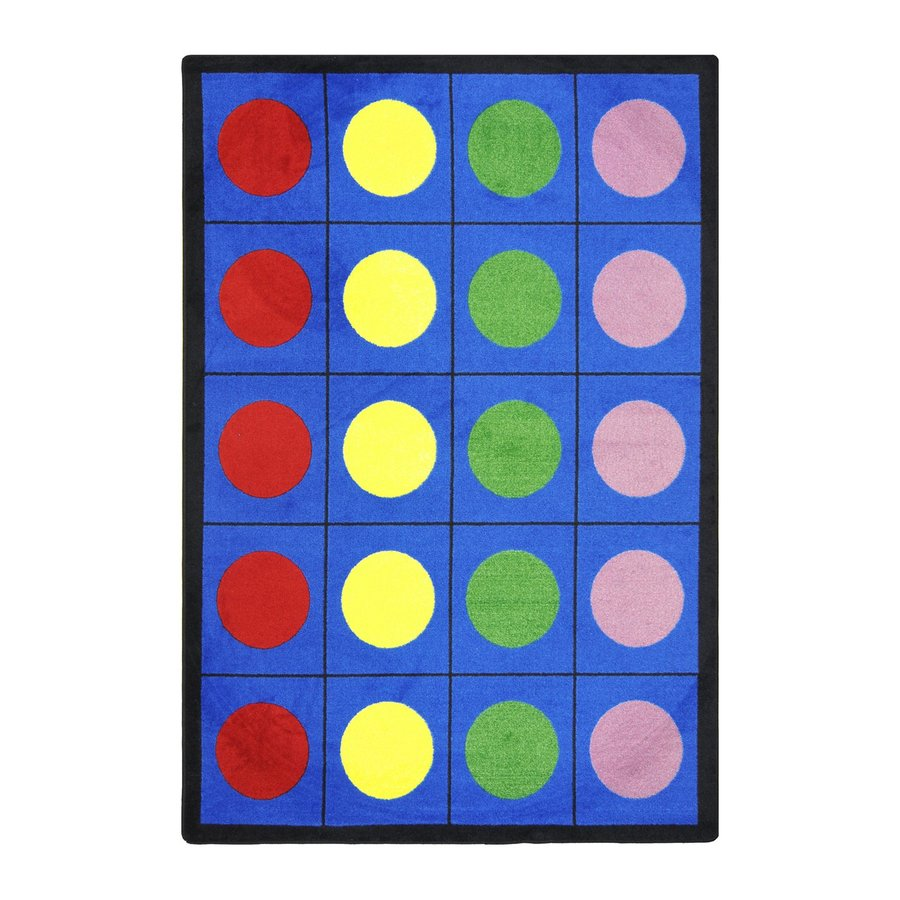 Joy Carpets Lots Of Dots Rectangular Indoor Tufted Educational Area Rug (Common: 5 x 8; Actual: 64-in W x 92-in L)