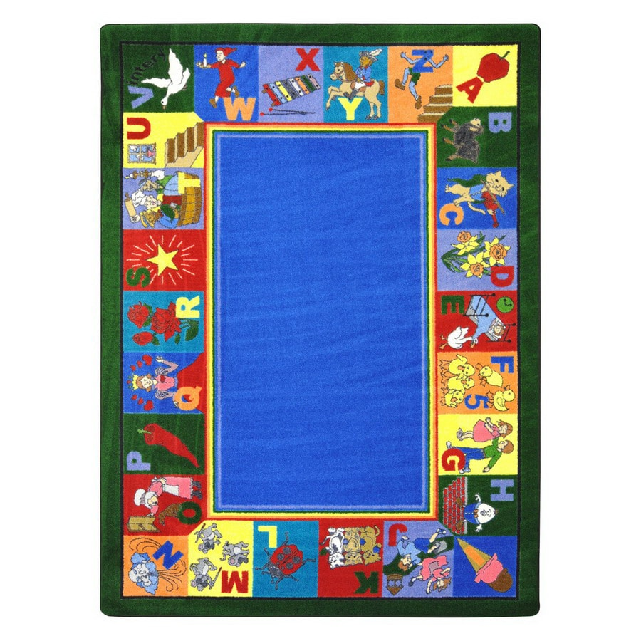 Joy Carpets My Favorite Rhymes 11-ft 2-in x 10-ft 9-in Rectangular Multicolor Educational Area Rug