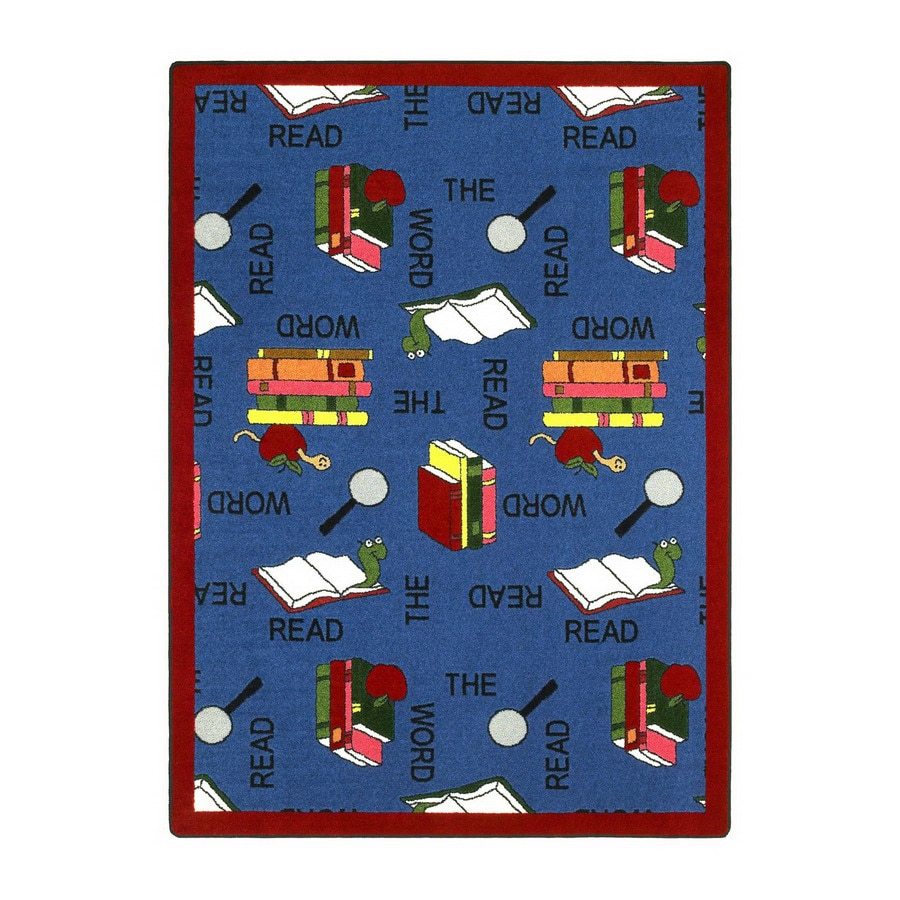 Joy Carpets Read The Word 5-ft 4-in x 3-ft 10-in Rectangular Multicolor Educational Area Rug