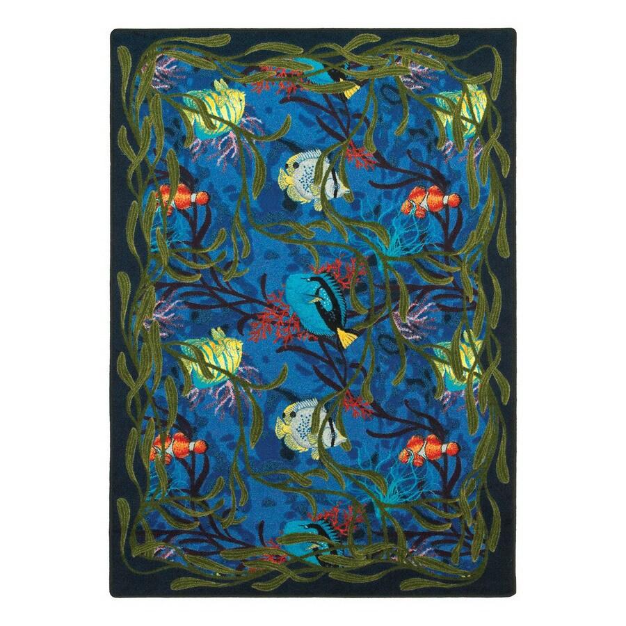 Joy Carpets Under The Sea Rectangular Indoor Tufted Coastal Area Rug (Common: 4 x 5; Actual: 46-in W x 64-in L)