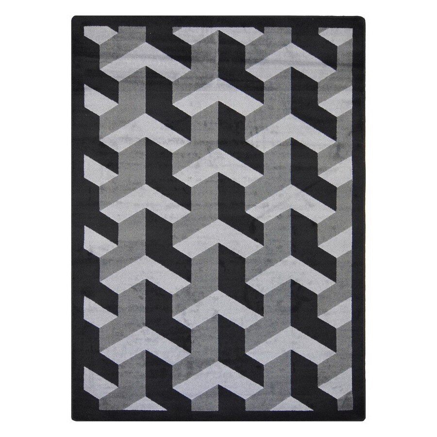 Joy Carpets Rooftop 13-ft 2-in x 10-ft 9-in Rectangular Multicolor Block Area Rug
