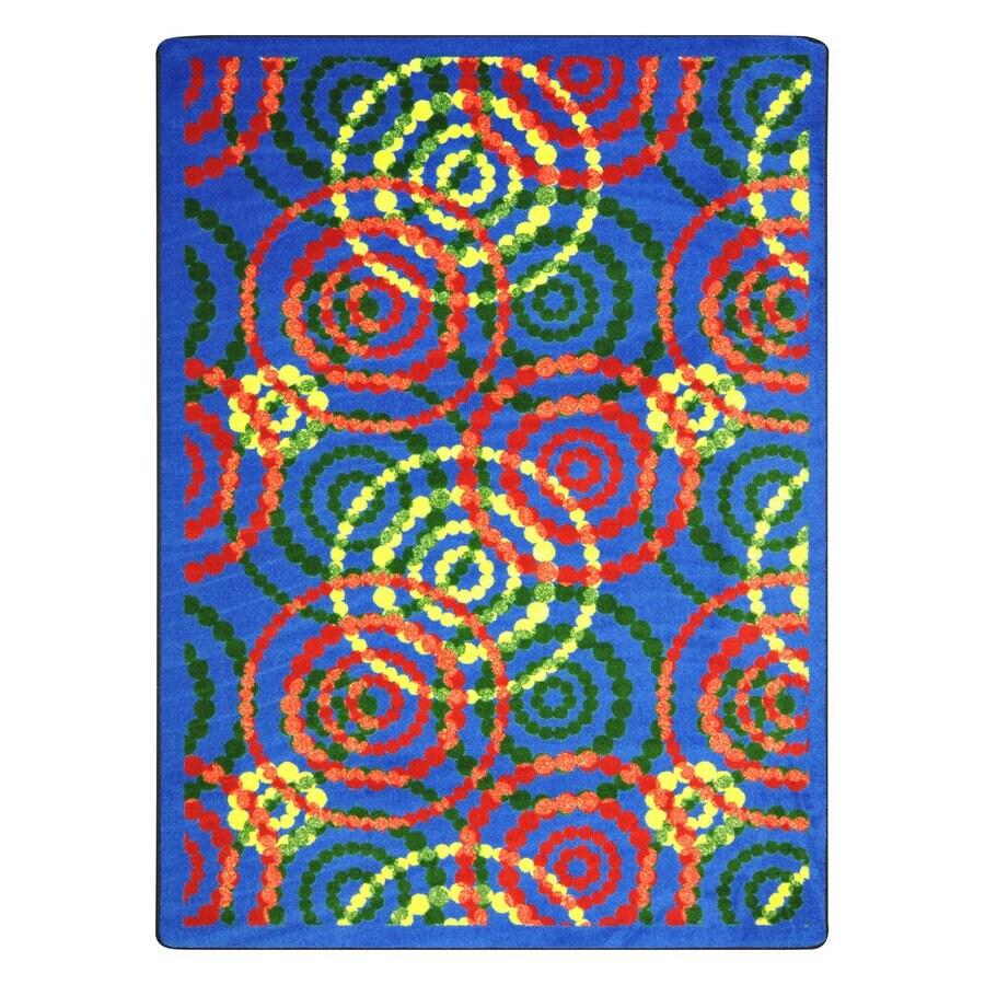 Joy Carpets Dottie Rainbow Rectangular Indoor Tufted Area Rug (Common: 5 x 8; Actual: 64-in W x 92-in L)