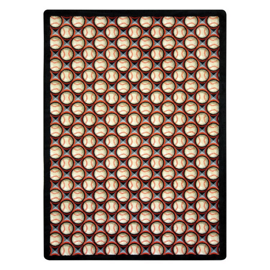 Joy Carpets Bases Loaded Rectangular Indoor Tufted Sports Area Rug (Common: 5 x 8; Actual: 64-in W x 92-in L)